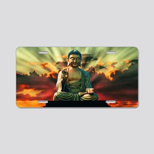 Buddha Sunrise Aluminum License Plate