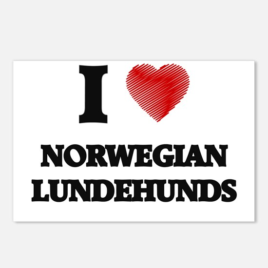 I love Norwegian Lundehun Postcards (Package of 8)