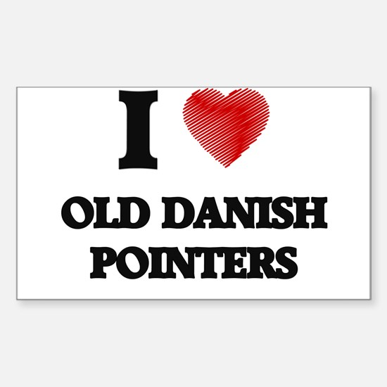I love Old Danish Pointers Decal