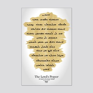 Syriac Lord's Prayer Mini Poster Print