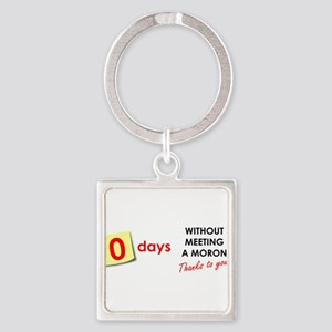 Zero Days Without Meeting a Moron Keychains