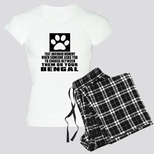 Awkward Bengal Cat Designs Women's Light Pajamas