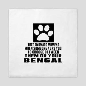 Awkward Bengal Cat Designs Queen Duvet