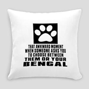Awkward Bengal Cat Designs Everyday Pillow