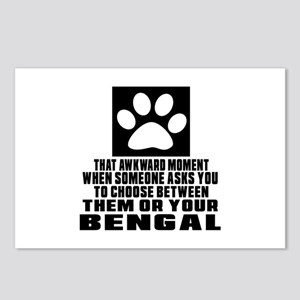 Awkward Bengal Cat Design Postcards (Package of 8)