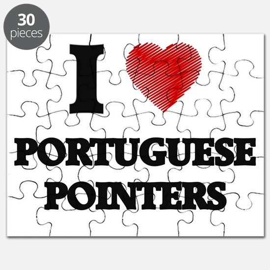 I love Portuguese Pointers Puzzle