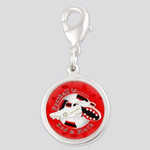 Red and Black Football Soccer Charms