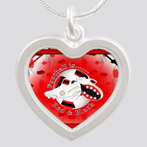 Red and Black Football Soccer Necklaces