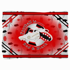 Red and Black Football Soccer Pillow Sham
