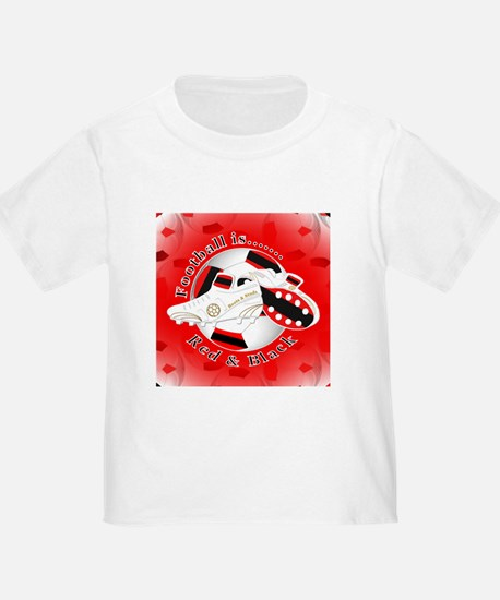 Red and Black Football Soccer T-Shirt