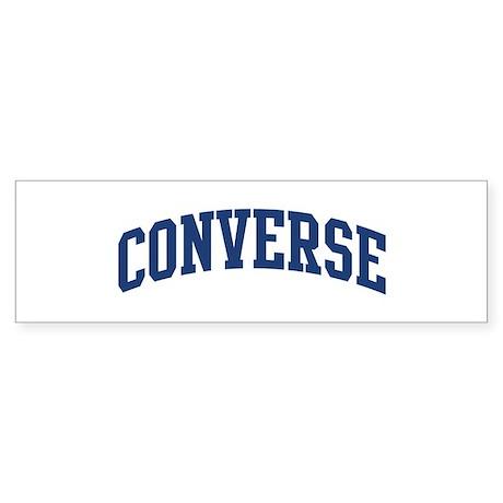 CONVERSE design (blue) Bumper Sticker