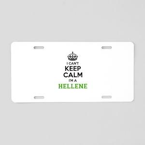 Hellene I cant keeep calm Aluminum License Plate