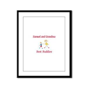 Samuel & Grandma - Buddies Framed Panel Print