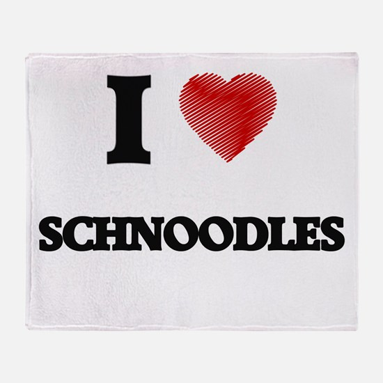 I love Schnoodles Throw Blanket