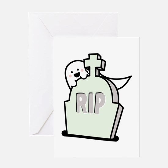 Ghost Grave Greeting Cards