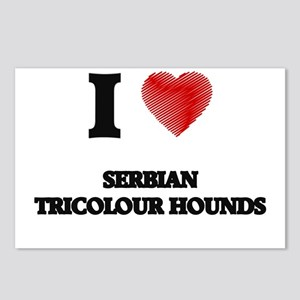 I love Serbian Tricolour Postcards (Package of 8)