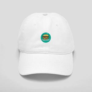 Retro 1950s Diner Hamburger Circle Baseball Cap
