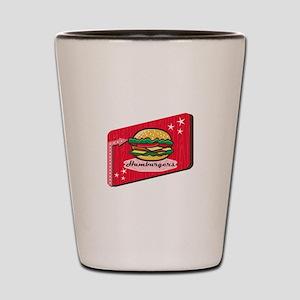 Retro 1950s Diner Hamburger Sign Shot Glass