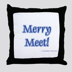 Merry Meet (Pagan/Wiccan Throw Pillow