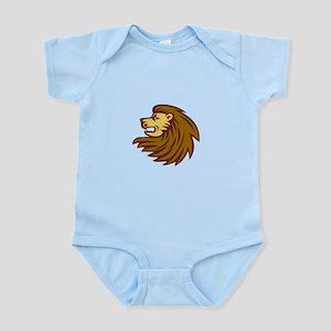 Lion Big Cat Head Woodcut Body Suit