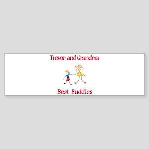 Trevor & Grandma - Buddies Bumper Sticker