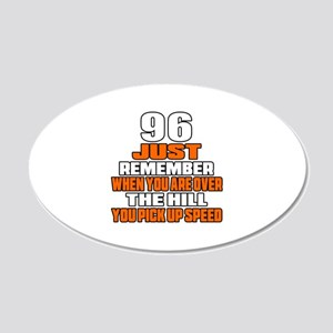 96 Just Remember Birthday De 20x12 Oval Wall Decal