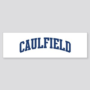 CAULFIELD design (blue) Bumper Sticker