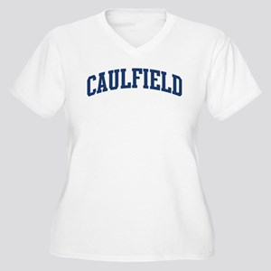 CAULFIELD design (blue) Women's Plus Size V-Neck T