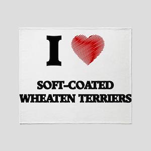 I love Soft-Coated Wheaten Terriers Throw Blanket