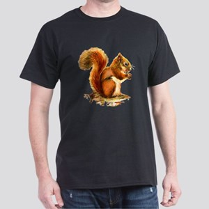 Watercolor Red Squirrel Animal Art T-Shirt