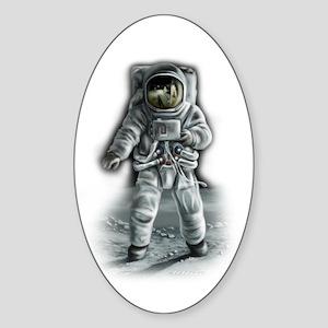 Astronaut Moonwalker Sticker (Oval)