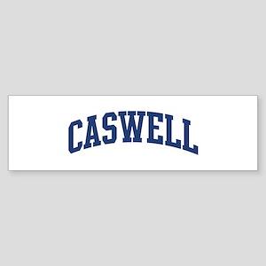 CASWELL design (blue) Bumper Sticker