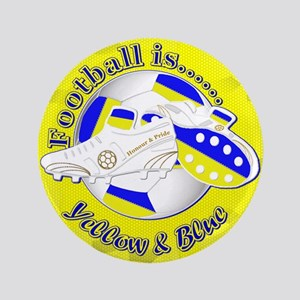 Blue and Yellow Football Soccer Button