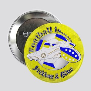 """Blue and Yellow Football So 2.25"""" Button (10 pack)"""