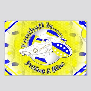 Blue and Yellow Football Postcards (Package of 8)