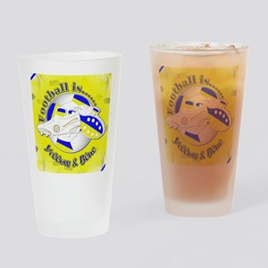 Blue and Yellow Football Soccer Drinking Glass