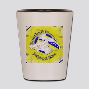 Blue and Yellow Football Soccer Shot Glass