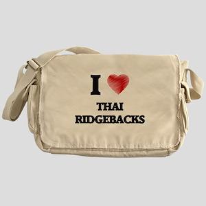 I love Thai Ridgebacks Messenger Bag