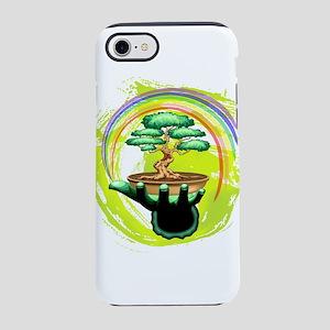 Bonsai Tree and Rainbow on Green Hand iPhone 8/7 T