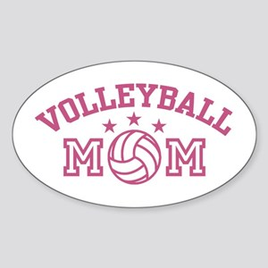 Volleyball Mom Oval Sticker