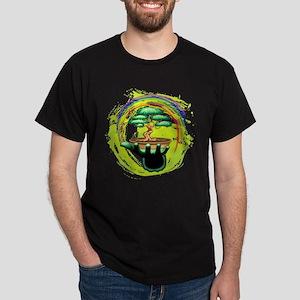 Bonsai Tree and Rainbow on Green Hand T-Shirt