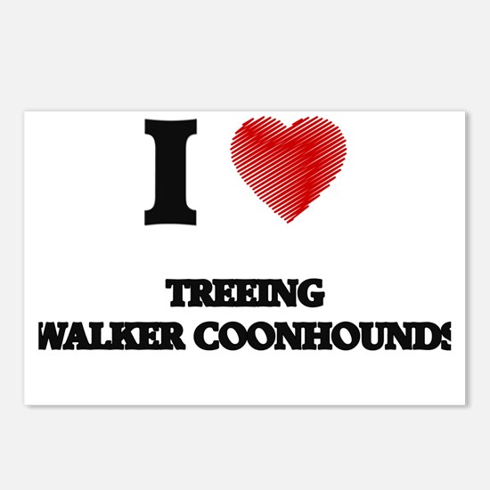 I love Treeing Walker Coo Postcards (Package of 8)