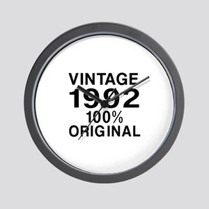 Vintage 1992 Birthday Designs Wall Clock
