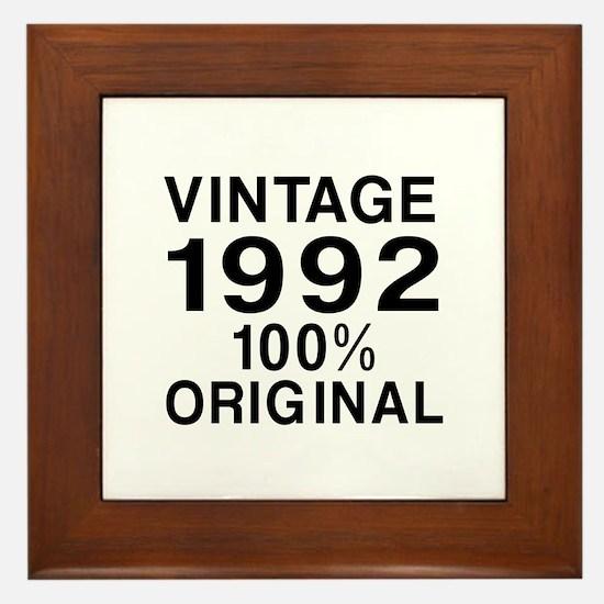 Vintage 1992 Birthday Designs Framed Tile
