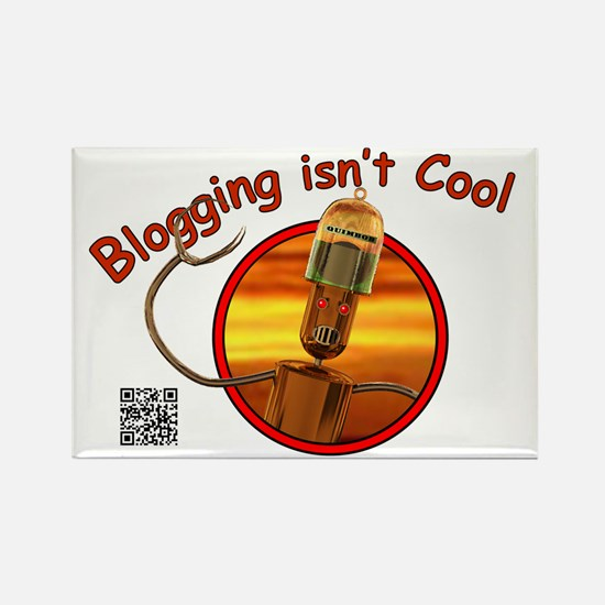 Cute Blogging Rectangle Magnet