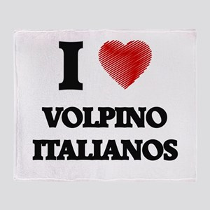 I love Volpino Italianos Throw Blanket