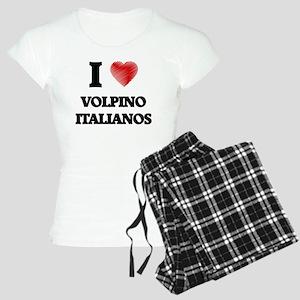 I love Volpino Italianos Women's Light Pajamas