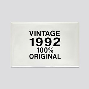 Vintage 1992 Birthday Designs Rectangle Magnet