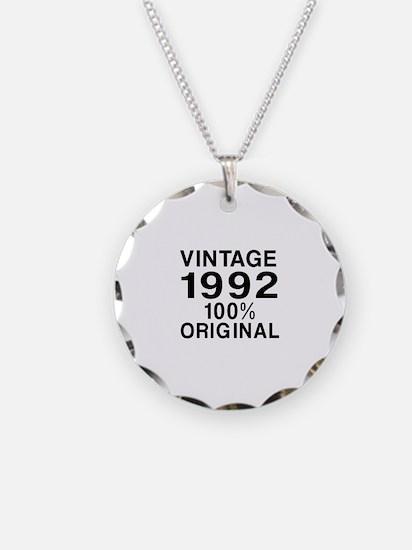 Vintage 1992 Birthday Design Necklace
