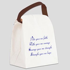 Pain Gave Me Faith Canvas Lunch Bag